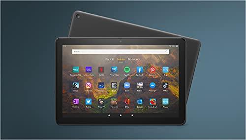 Te presentamos el tablet Fire HD 10 | 10,1' (25,6 cm), Full HD 1080p, 32 GB, color negro, con publicidad