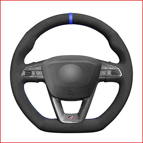 NCUIXZH Couvre-Volant de Voiture Noir Bleu marqueur , pour Seat Leon Cupra R 2013-2019 Ibiza Cupra 2016-2019 Ateca FR 2016-2019-M Filetage