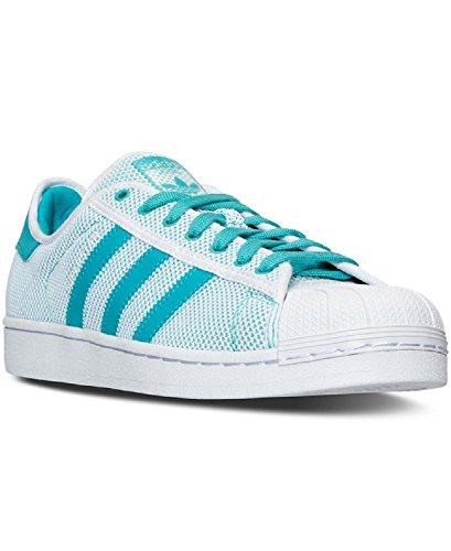 adidas Originals Superstar Adicolor, Zapatillas Hombre, Blanco Shock Verde Blanco, 42 EU