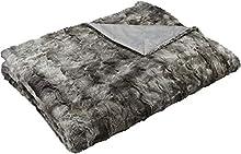 Amazon Basics - Manta de piel sintética, 150 x 200 cm, color gris