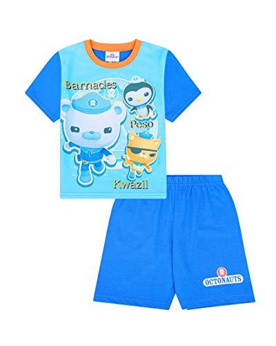 Octonauts - Pijama corto para niños y niñas de 3 a 6 años Azul azul 3-4 Años