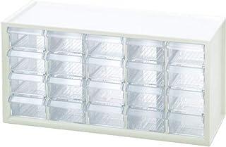 $27 » livinbox 20 Drawer Plastic Parts Storage Hardware and Craft Cabinet, Desktop Hardware Storage Organizer Multi Use Compartment Container– White, A9-520, 14.9 x 6.1 x 7.4Inch