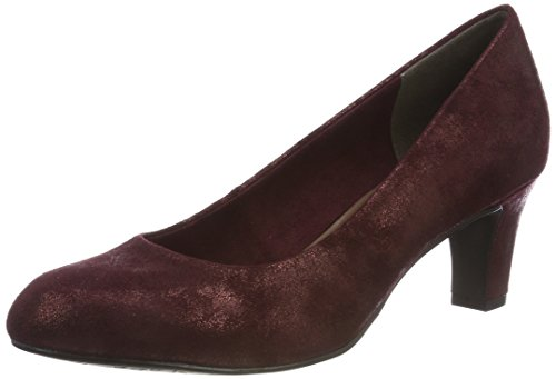 Tamaris Damen 22418-21 Pumps, Rot (Bordeaux Met. 912), 37 EU