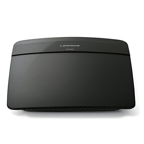 Linksys E1200-EW - Router inalámbrico N300 (Wireless-N, 4 Puertos Fast Ethernet, 300 Mbps, Linksys Connect), Negro