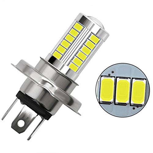 YEZHENGHUA Yzhua 1pc H4 LED Lámpara de la lámpara Faro de Coche 33 SMD 5630 5730 Bombilla de luz Auto Automóvil Niebla Luz de Niebla (Emitting Color : Blue)