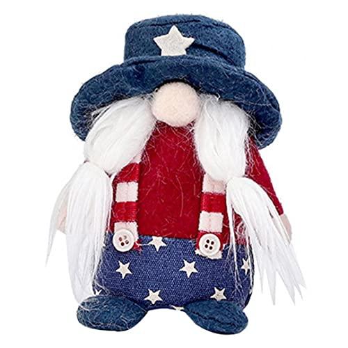 NiceCore Amerikanischer Tag Gesichtslose Puppe Patriotische GNOME Plüsch Elf Zwerg Präsident Wahlpuppe Ornament Dekoration Style2 Wohnkultur