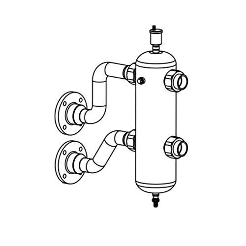 Kit botella de equilibrio para caldera a gas de condensación, caudal máximo de 8,5 m3/h, conexión de 2