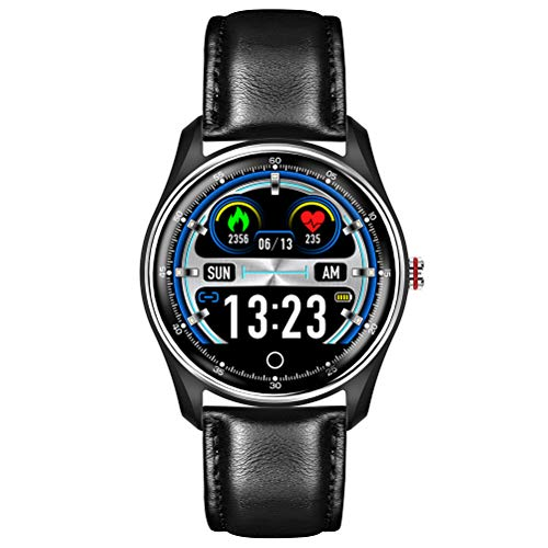 HJKPM Smartwatch, IP68 Wasserdicht Cardio PPG Schwimmen Intelligente Uhr Unter Verwendung Von Vakuumbeschichtungsverfahren Und Mit 8 Trainingsformen Für Temperament Zu Verbessern,C