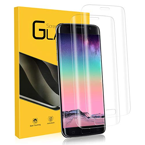 YIEASY Schutzfolie für Samsung Galaxy S7 Edge Panzerglas [2 Stück], [3D Volle Bedeckung] [9H Härte] Displayschutzfolie, [Anti-Kratzen/Öl/Bläschen] HD Klar Folie für Samsung Galaxy S7 Edge Panzerfolie
