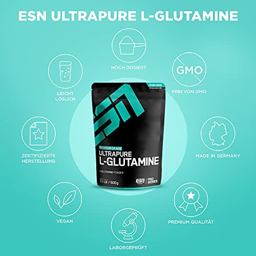 ESN Ultrapure L-Glutamine Powder, Pro Series, 1er Pack (1 x 500g Beutel) - 5