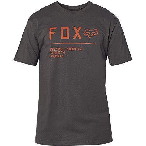 Fox Racing Herren-Hemd, Non-Stop Premium, Schwarz/Orange, Größe S, 23709-016-S
