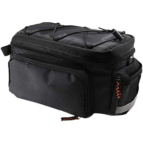 XIAOBUSHI Bicycle carrier bag, bicycle bag bicycle bags, waterproof bicycle rear seat saddle bag 10-25L scalable Pannier mountain bike rear seat package (Color : Black)