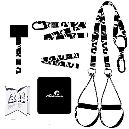 Schlingenfit Schlingentrainer mit Türanker und Trainingshandbuch - Einzigartiger Tarnlook - Sling Trainer Set - jetzt zum Traumkörper