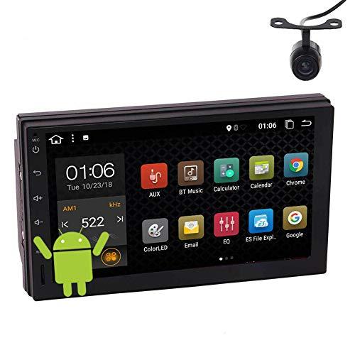 2 Din Car Stereo Radio Bluetooth con cámara de respaldo Android 10.0 Soporte de unidad principal Pantalla táctil de 7 pulgadas FM AM RDS Receptor de radio Navegación GPS WiFi 3G 4G USB SD OBD2 SWC