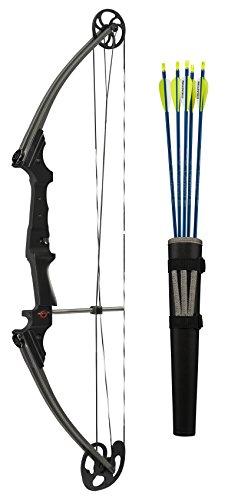 Genesis Bows GenK-12248 Archery Righ Hand Bow Set, 15-30-Inch/10-20-Pound