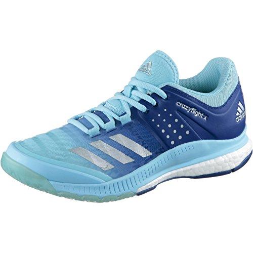 adidas adidas Damen Crazyflight X W Volleyballschuhe, Mehrfarbig (Azuhie/Plamet/Tinmis), 41 1/3 EU