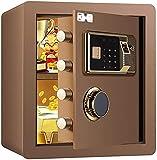 DJDLLZY Caja de seguridad digital electrónica, 36 x 32 x 40 cm, caja fuerte de acero para el hogar, pantalla LED, para...