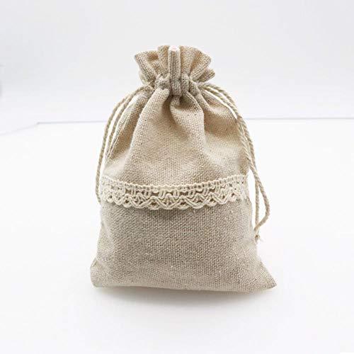 Aober 5 stks Natuurlijke Katoenen Zakken Gunst Trekkoord Gift Bag Pouches Sieraden Cosmetica Snoep Geschenken Verpakking…