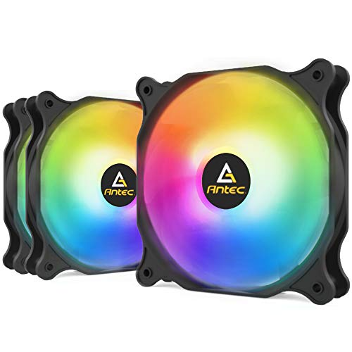 Antec Ventilateur 120 mm RGB, Ventilateur PC Haute Performance RGB, RGB 4 Broches, série F12, 3 Paquets