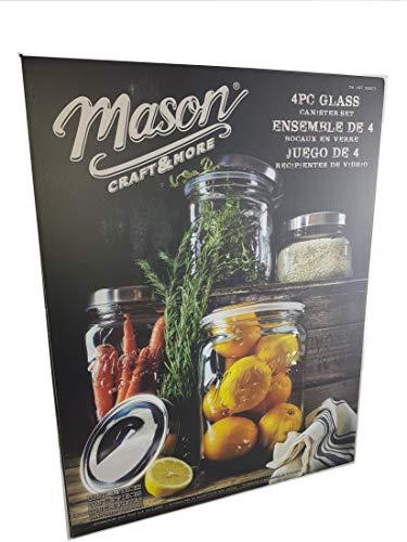 Mason 4-piece Glass Canister Set