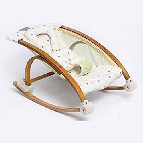 Baby Swing Silling Bouncers Silla mecedora Protección ambiental Reclinable Durable, Azul WTZ012 (Color : Beige)