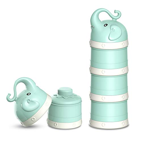ORIY Baby Milk Powder Formula Dispenser,Large Capacity,Non-Spill Twist-Lock Stackable Milk Powder...