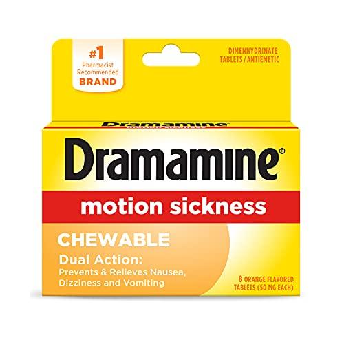 Dramamine Chewable Formula Motion Sickness Relief   Orange   8 Count