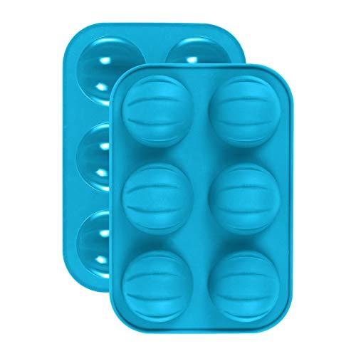 Moule en silicone Cuisson Set Moules en silicone, 2pcs Demi-Ball Moules en silicone à ballon 3D Bomb Shape Câte-chocolat Candy Cookie Cookie Cuisson Cuisinière Moulins Patiserie Outils