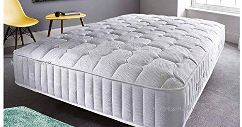 Mattress Haven Quality Quilted Pocket Sprung Memory Foam Mattress - 2000 3000 4000 Springs - Medium / Firm4FT - Small double
