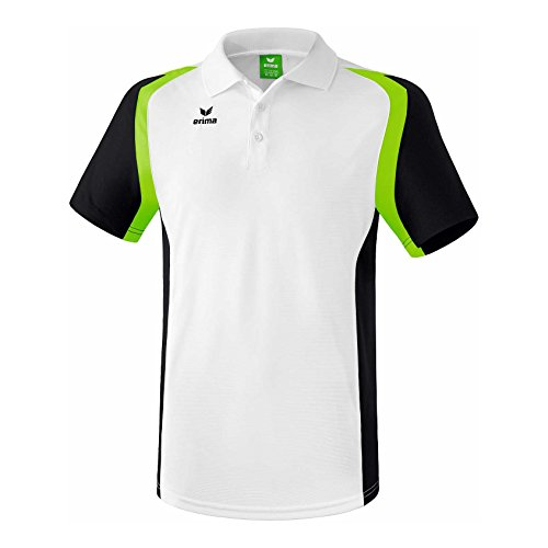 erima Herren Poloshirt Razor 2.0, Weiß/Schwarz/Green Gecko, XL, 111617
