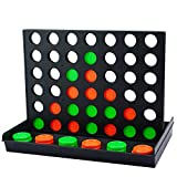 4 Connect in a Row Four in a Row Game Classic Family Game Line Up 4 Classic Board Game Puzzle Travel Game Easy to Set up ,Play ,Storage for Kids ,Adults ,Family Fun
