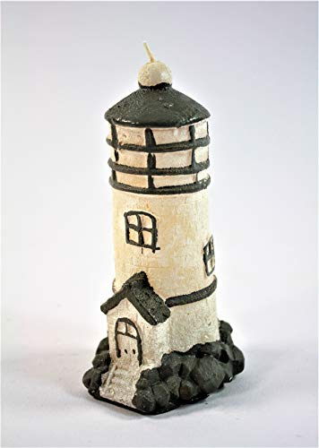 TrendLineMix Kerze Leuchtturm Maritim 12 cm Tischdeko
