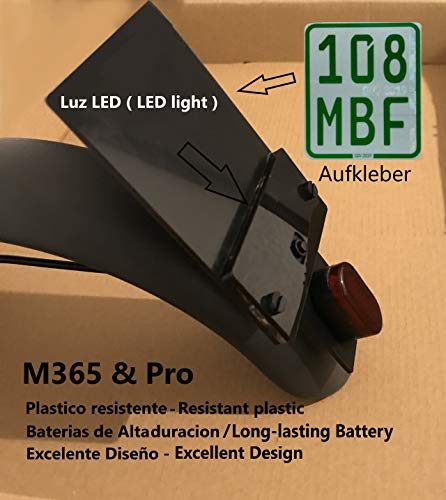 LEOANDMENA kentekenplaathouder met LED-licht voor model M365/M187/PRO