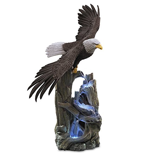 The Bradford Exchange Handcrafted Cold Cast Stone Lighted Eagle Sculpture