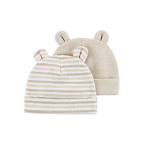 Orejas hospital recién nacido sombrero 0-6months oso Niño Niña Beanie sombreros del bebé infantil otoño invierno 2-Pack