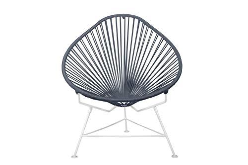 INNIT Baby Acapulco stoel met wit frame, grijs, 22x24x26 cm