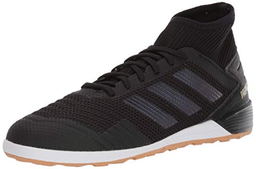 adidas Men's Predator 19.3 Indoor Soccer Shoe, Black/Black/Gold Metallic, 9.5 M US