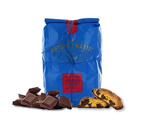 Cantucci con Cioccolato Fondente, Biscotti con Gocce di Cioccolato, Sacchetto 500g