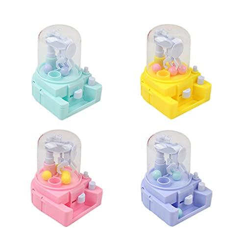 TOYANDONA 4 Piezas Mini Máquina de Caramelos Máquinas de Goma de Mascar Dispensador de Burbujas Banco de Monedas para Niños Dispensador de Dulces Juguete para Niños Suministros para Fiestas