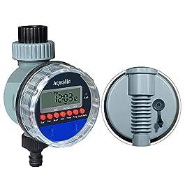 Aqualin Arrosage Minuterie Contrôleur d'irrigation Marche sans Pression, Vanne à Bille Minuteries d'arrosage, Compatible…