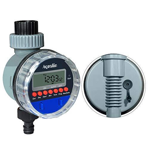 Aqualin Bewässerungsuhr Automatischer Bewässerungscomputer Bewässerungssystem Wasser Zeitschaltuhr für Garten Hof mit Regensensor verwendbar