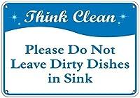 ナンシーグレートメタルの看板は清潔だと思いますシンクの屋外の屋内看板の壁の装飾に汚れた皿を残さないでください