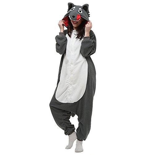 Silver_river Erwachsene Kigurumi Tier Onesie Jumpsuit Karneval Halloween kostüm Schlafanzug