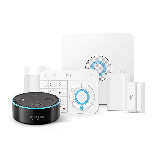 Ring Alarm 5 Piece Kit + Echo Dot (2nd Gen), Works with Alexa