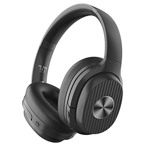 EKSA Active Noise Cancelling Headphones Bluetooth 5.0, 60 Hrs Playtime,...