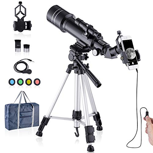 HUTACT Telescopio Astronomicos 400/70mm Niños Adultos
