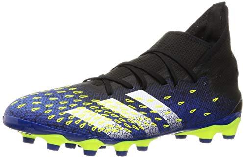 adidas Predator Freak .3 MG, Zapatillas de fútbol Hombre, NEGBÁS/FTWBLA/Amasol, 42 EU