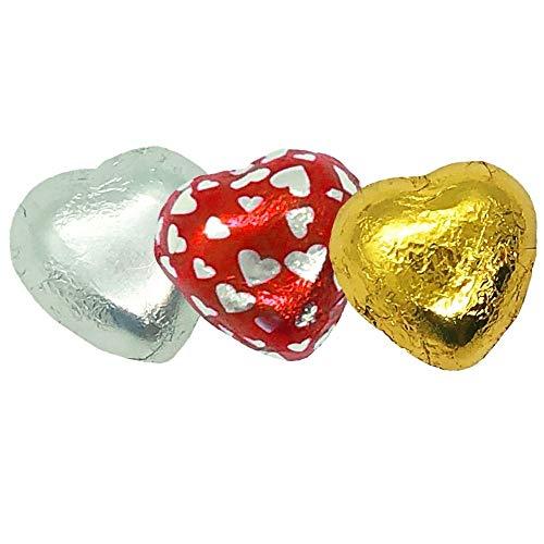 Walser's Group Corazones Surtidos De Chocolate Con Leche Rellenos De Crema De Avellana - 1 Kg, 195 Piezas