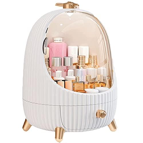 N \ A Lámpara LED Caja de Almacenamiento de cosméticos Organizador de cajones de Maquillaje Joyas Esmalte de uñas Organizador de Maquillaje Cajón Almacenamiento de cosméticos a Prueba