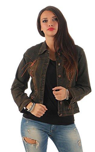 AE dames denim jeansjack korte jas jack maat S M L XL, 1616